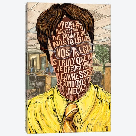 Dwight Canvas Print #NJO41} by Nate Jones Design Canvas Print