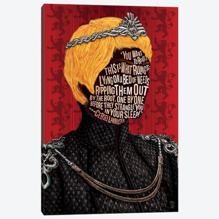 Cersei Canvas Print #NJO4} by Nate Jones Design Canvas Wall Art