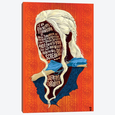 Daenerys Canvas Print #NJO5} by Nate Jones Canvas Artwork