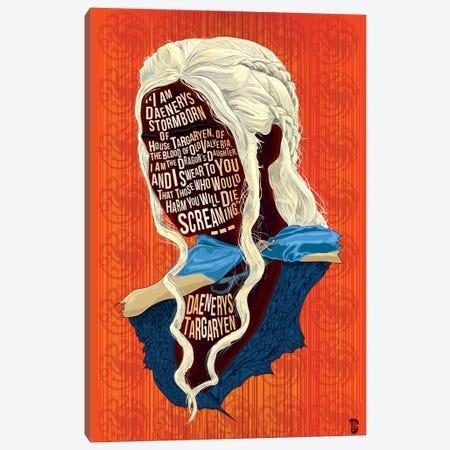 Daenerys Canvas Print #NJO5} by Nate Jones Design Canvas Artwork