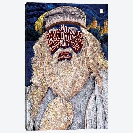 Dumbledore Canvas Print #NJO8} by Nate Jones Art Print