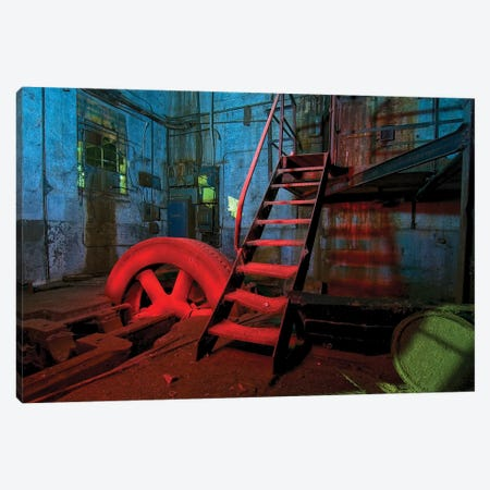 Hot Wheel Canvas Print #NKE23} by Noel Kerns Canvas Wall Art