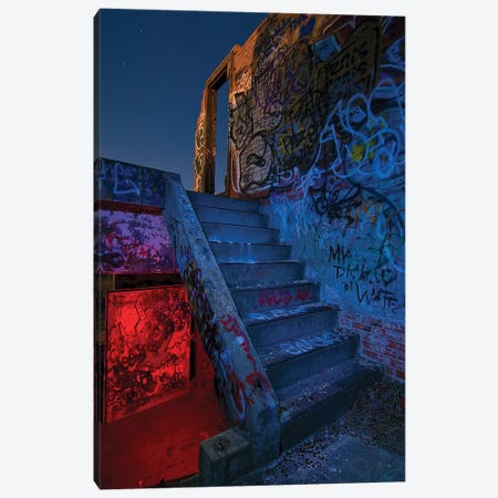 Stairway, Doorway Canvas Print #NKE44} by Noel Kerns Art Print