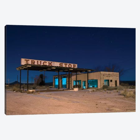 Truck Stop Canvas Print #NKE56} by Noel Kerns Canvas Artwork