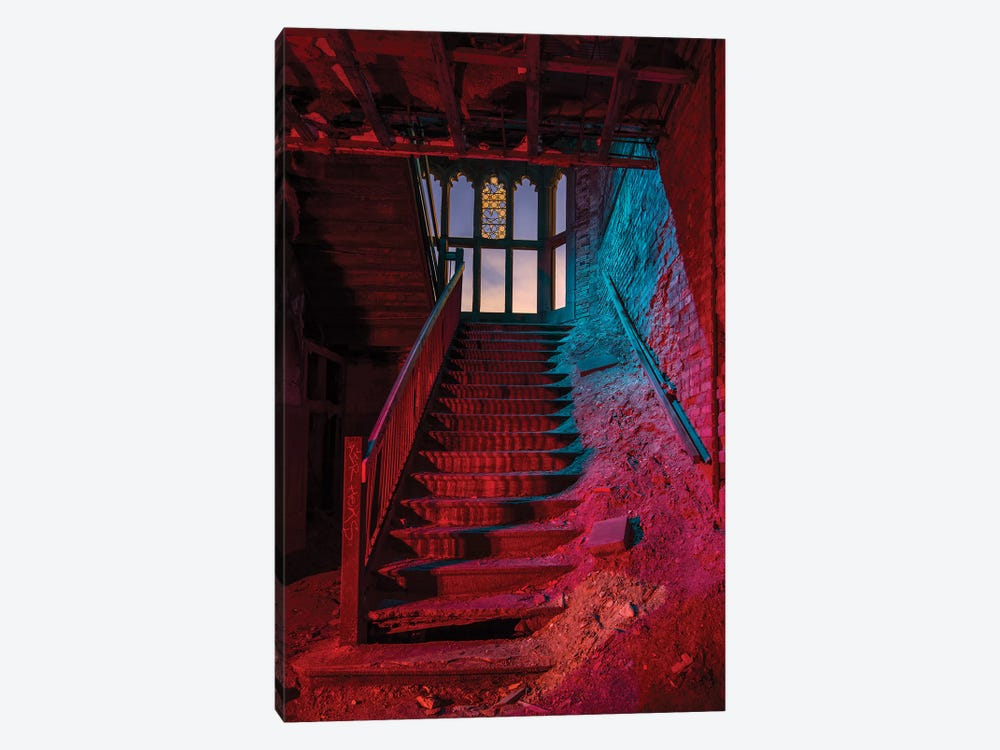 City Meth Stairs by Noel Kerns 1-piece Canvas Wall Art