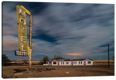 Henning Motel Revisited Canvas Art Print