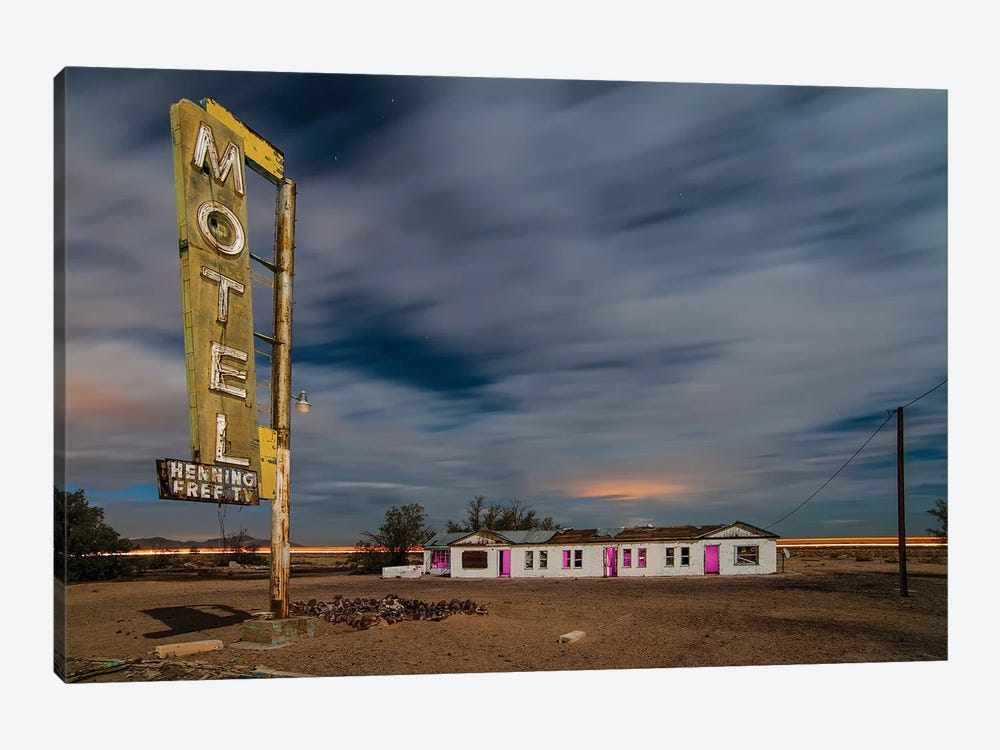 Henning Motel Revisited by Noel Kerns 1-piece Canvas Art
