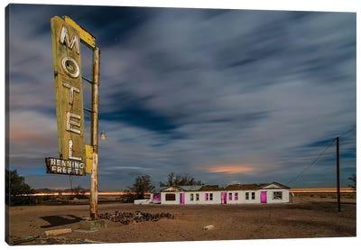 Henning Motel Revisited Canvas Art Print