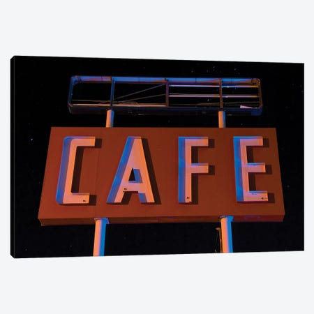 Cafe Canvas Print #NKE69} by Noel Kerns Canvas Artwork