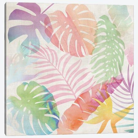 Rainbow Leaves Canvas Print #NKK100} by Nikki Chu Canvas Wall Art