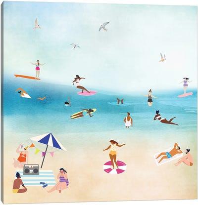 The Beach II Canvas Art Print