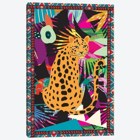 Cheetah Life II Canvas Print #NKK17} by Nikki Chu Canvas Artwork