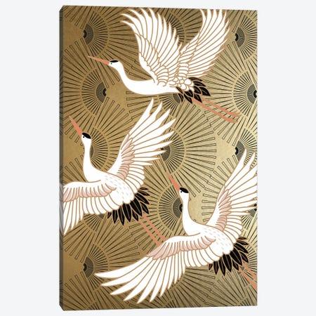 Crane Japenese II Canvas Print #NKK18} by Nikki Chu Canvas Print