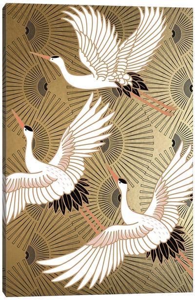 Crane Japenese II Canvas Art Print