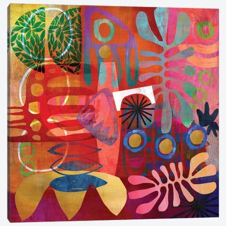 African Abstract Canvas Print #NKK1} by Nikki Chu Canvas Artwork