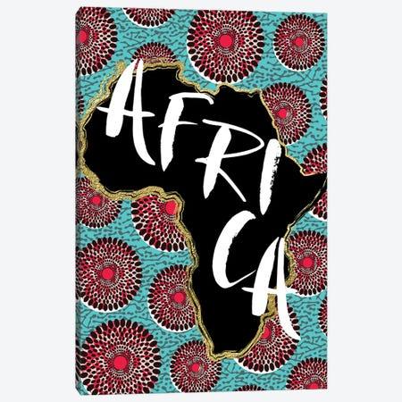 Afro Map X 3-Piece Canvas #NKK2} by Nikki Chu Canvas Wall Art