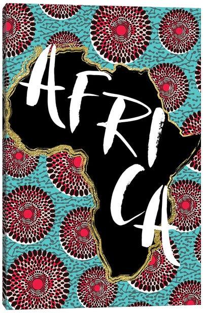 Afro Map X Canvas Art Print