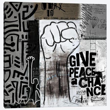 Give Peace A Chance Canvas Print #NKK35} by Nikki Chu Canvas Artwork