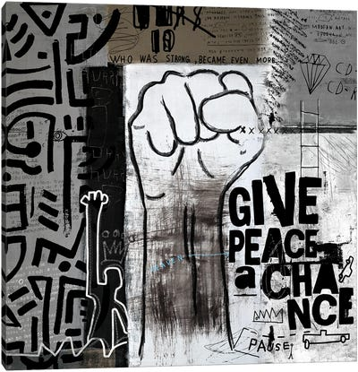 Give Peace A Chance Canvas Art Print