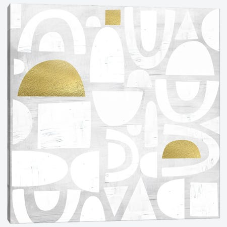 Gold Code I Canvas Print #NKK36} by Nikki Chu Canvas Art