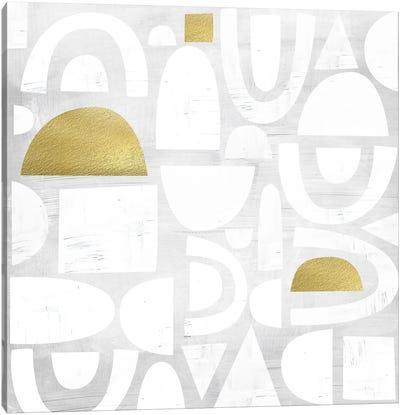 Gold Code I Canvas Art Print