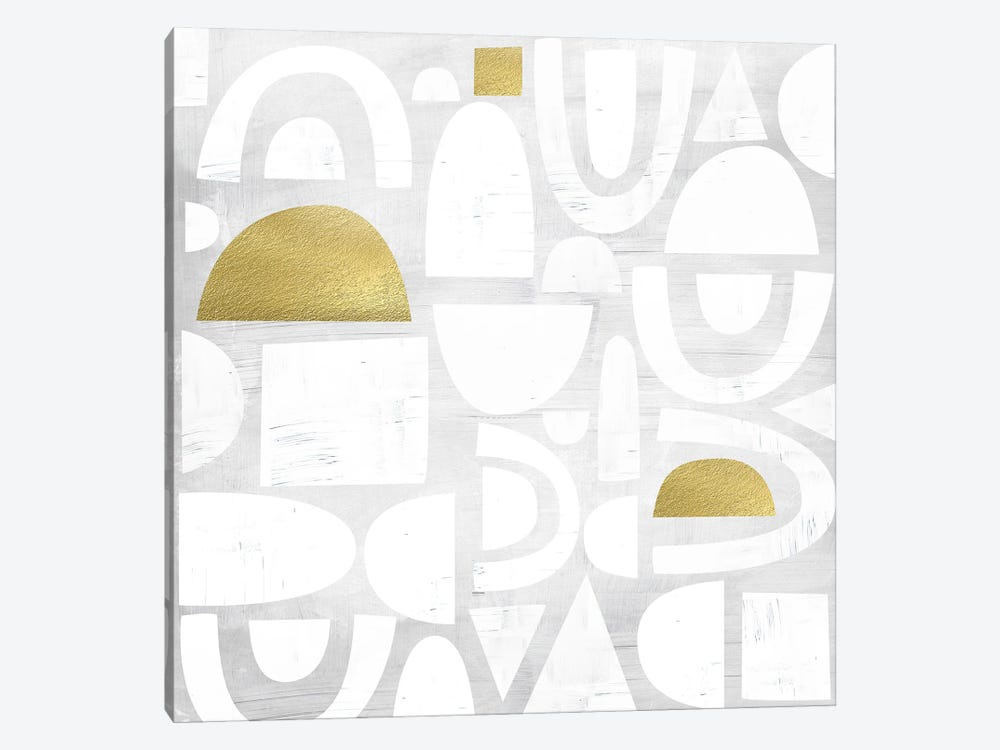 Gold Code I by Nikki Chu 1-piece Canvas Artwork