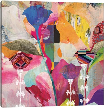 Leave Dem Alone Floral Canvas Art Print