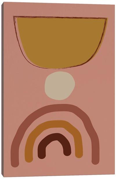 Mid Modern Shaps Canvas Art Print