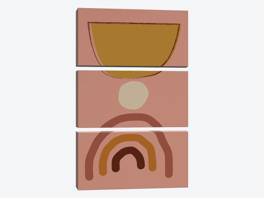 Mid Modern Shaps by Nikki Chu 3-piece Canvas Art Print