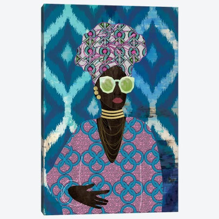 Modern Turban Queen I 3-Piece Canvas #NKK53} by Nikki Chu Canvas Print