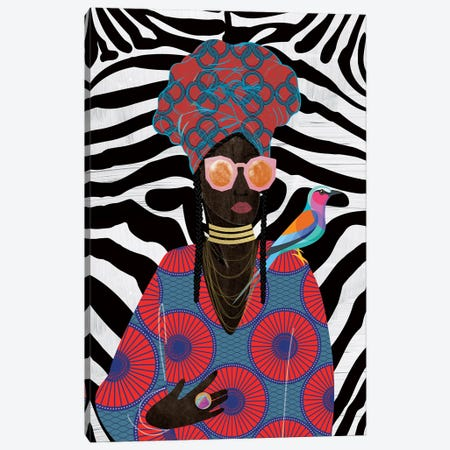 Modern Turban Queen II Canvas Print #NKK54} by Nikki Chu Canvas Art