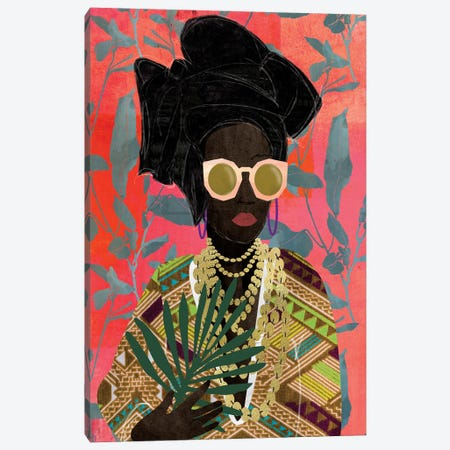 Modern Turban Woman I Canvas Print #NKK55} by Nikki Chu Canvas Art