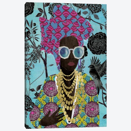 Modern Turban Woman III Canvas Print #NKK56} by Nikki Chu Canvas Wall Art