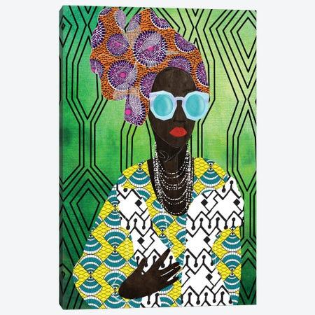 Modern Turban Woman IV Canvas Print #NKK57} by Nikki Chu Canvas Art