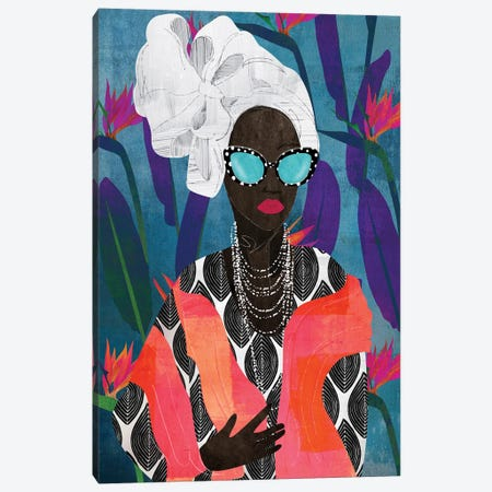 Modern Turban Woman V Canvas Print #NKK58} by Nikki Chu Canvas Art Print