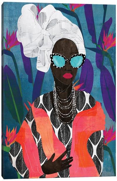 Modern Turban Woman V Canvas Art Print