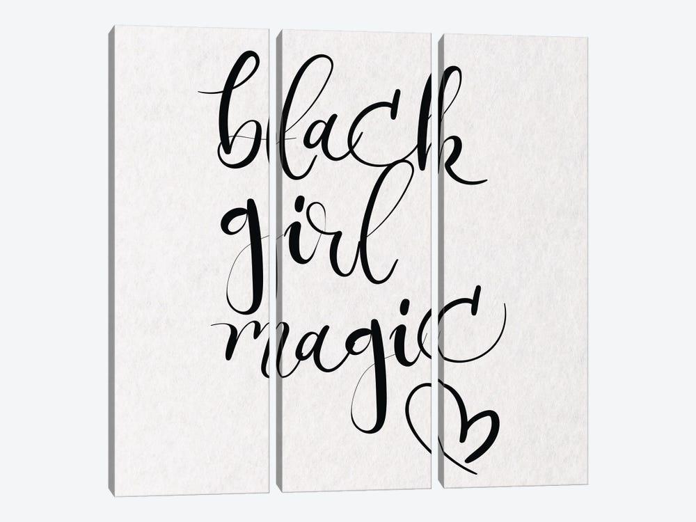Black Girl Magic III by Nikki Chu 3-piece Canvas Print
