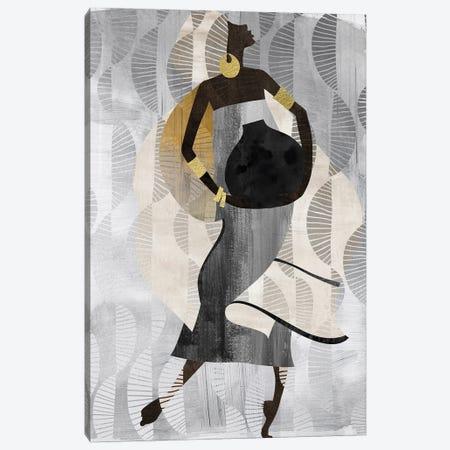 Neutral Dancing Woman II Canvas Print #NKK61} by Nikki Chu Canvas Art