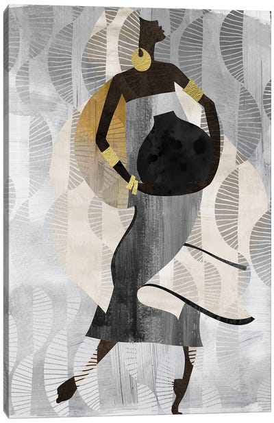 Neutral Dancing Woman II Canvas Art Print