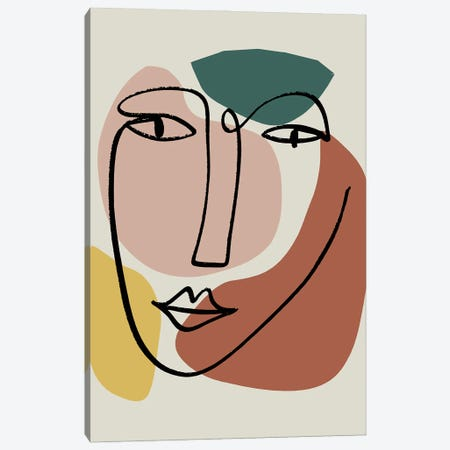 Newstalgia Face I Canvas Print #NKK62} by Nikki Chu Canvas Artwork