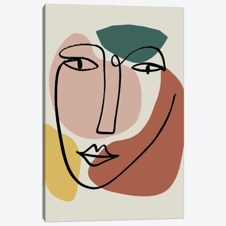 Newstalgia Face I Canvas Print #NKK62} by Nikki Chu Canvas Artwork