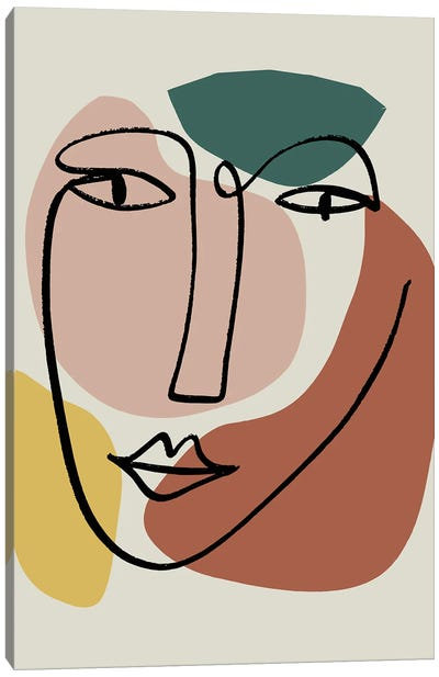 Newstalgia Face I Canvas Art Print