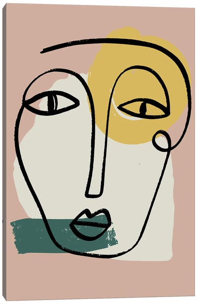 Newstalgia Face II Canvas Art Print