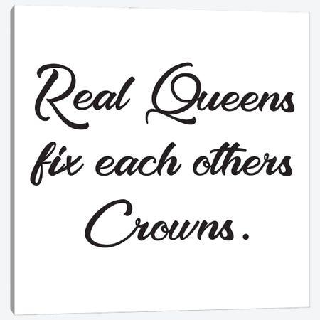 Real Queens Fix Canvas Print #NKK71} by Nikki Chu Art Print