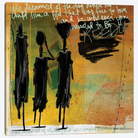Tribe Yellow Canvas Print #NKK79} by Nikki Chu Canvas Art Print