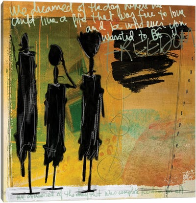 Tribe Yellow Canvas Art Print