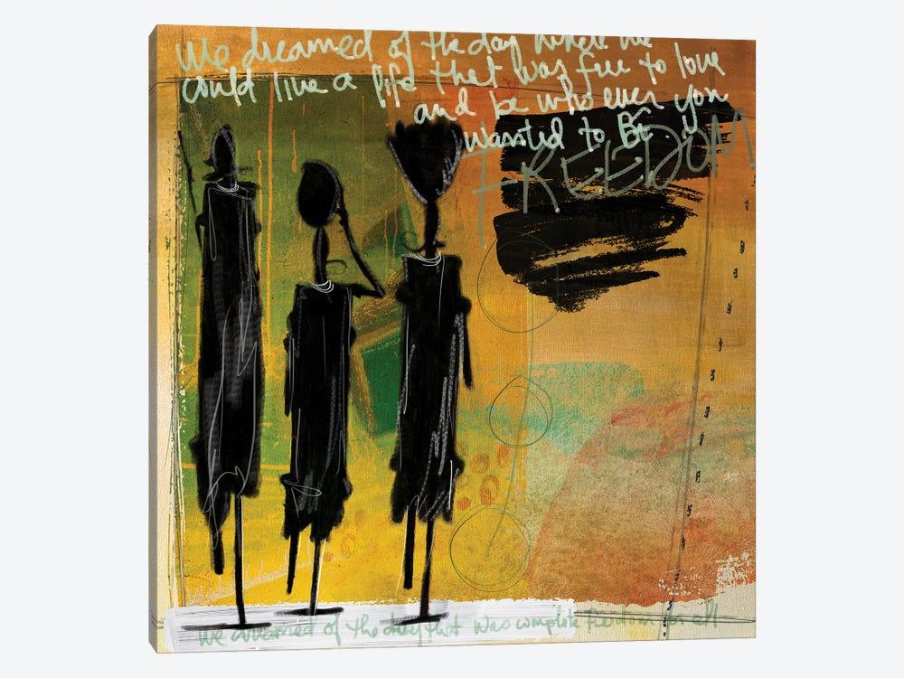 Tribe Yellow by Nikki Chu 1-piece Canvas Art Print