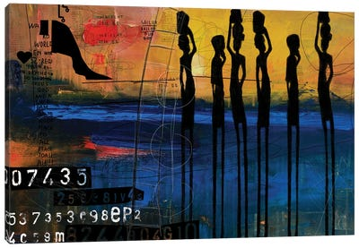 Tribes Men Canvas Art Print