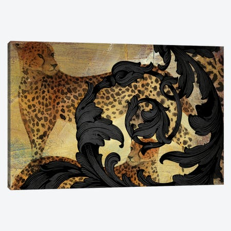 Cheetah Vibes Canvas Print #NKK91} by Nikki Chu Art Print