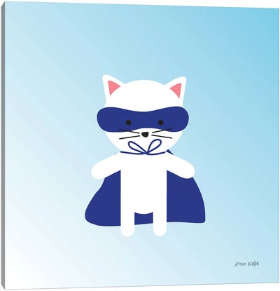 Cat Super Hero Canvas Art Print